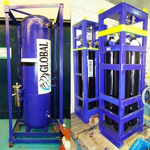 Tanque de volume e cilindreiras